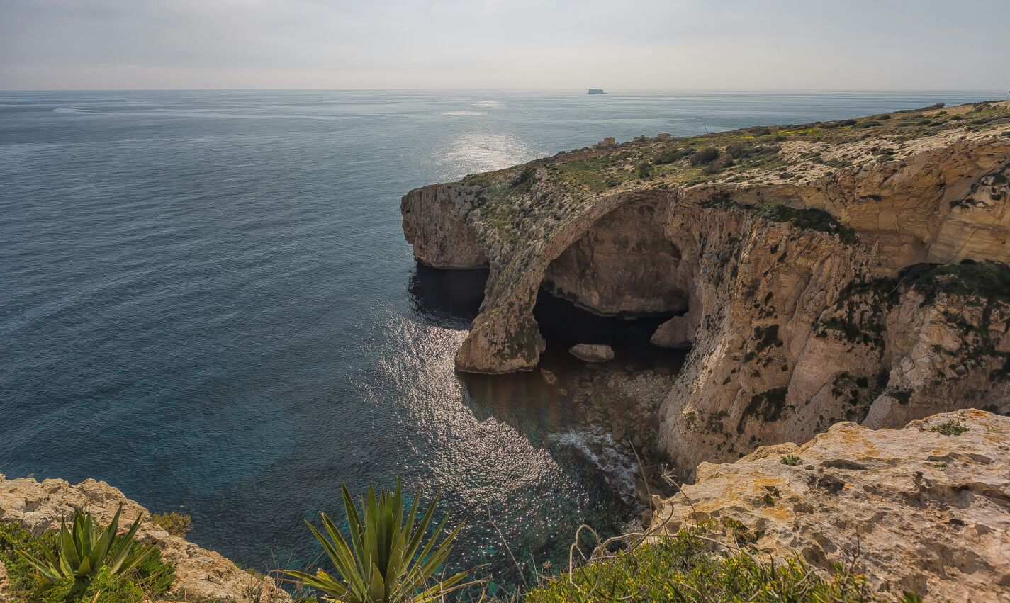 Malta. Blue Grotto desde acantilados Dingli.