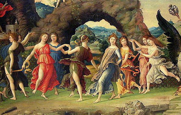 Las Musas. Andrea Mantegna.
