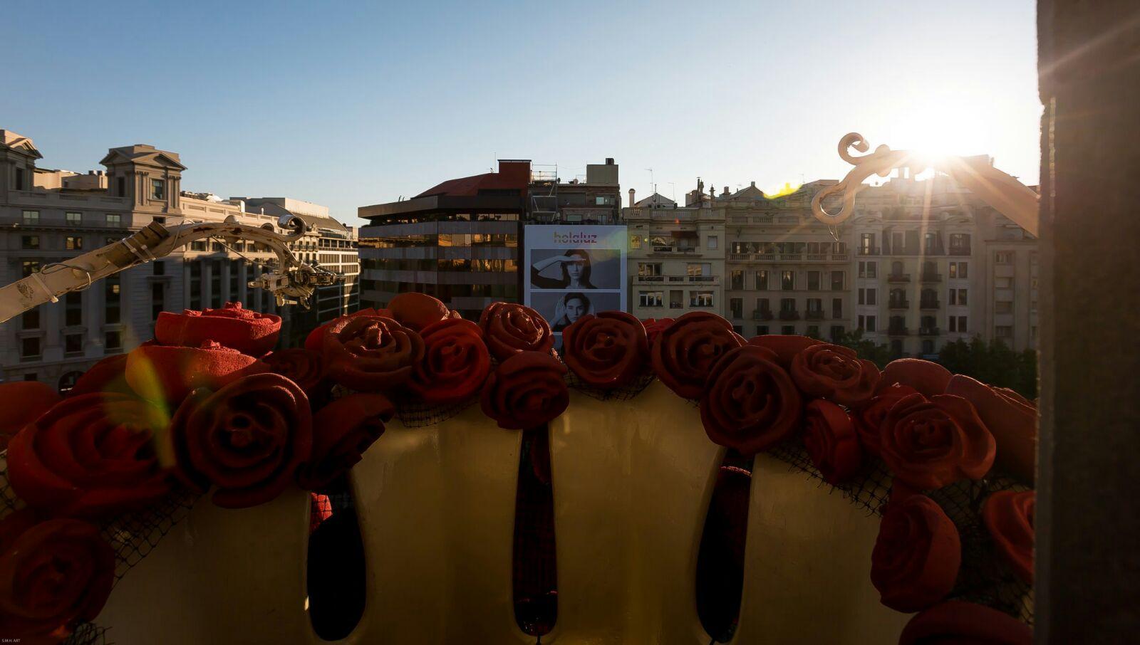 Desde el balcón de la princesa la vista se pierde en Barcelona...