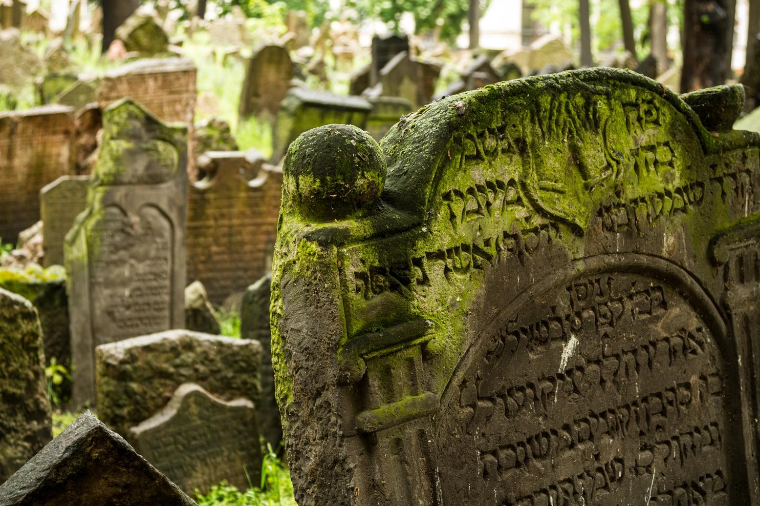 Cementerio Judío. Escritura hebrea.