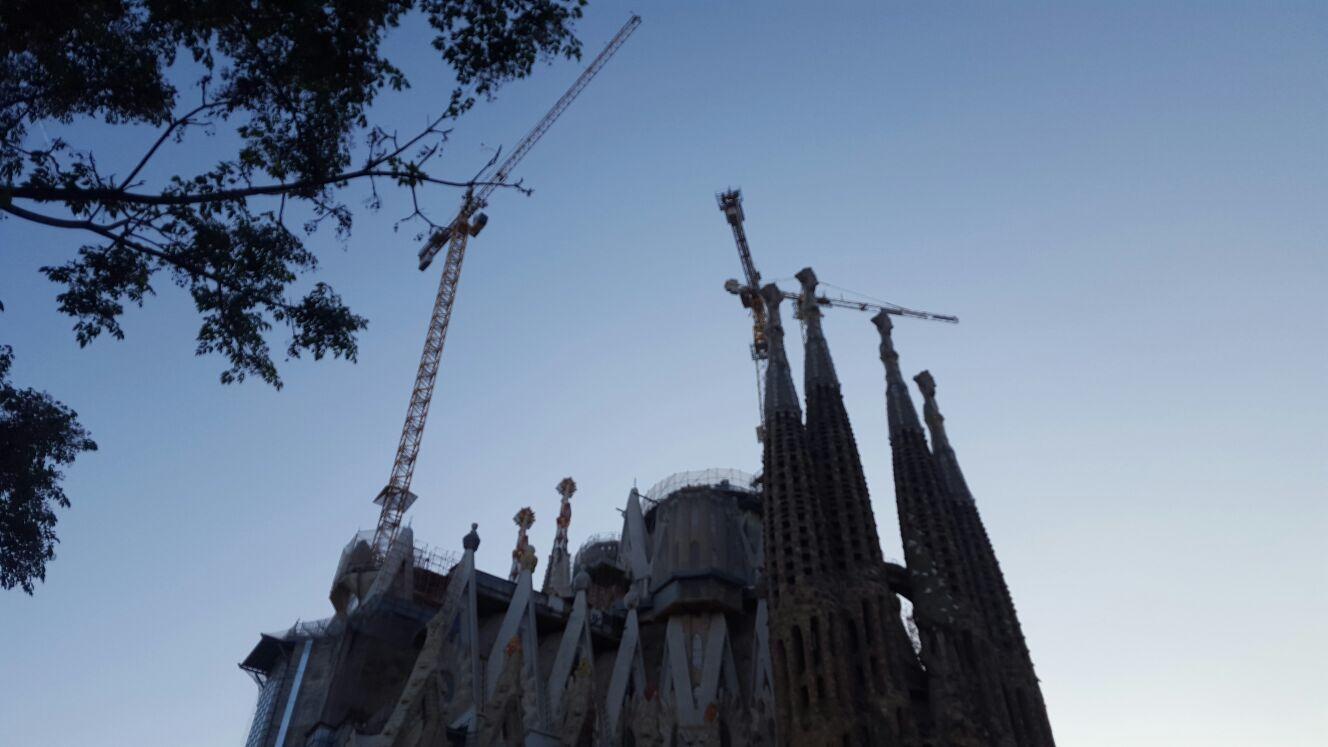 En el corazón de Barcelona una eterna obra...
