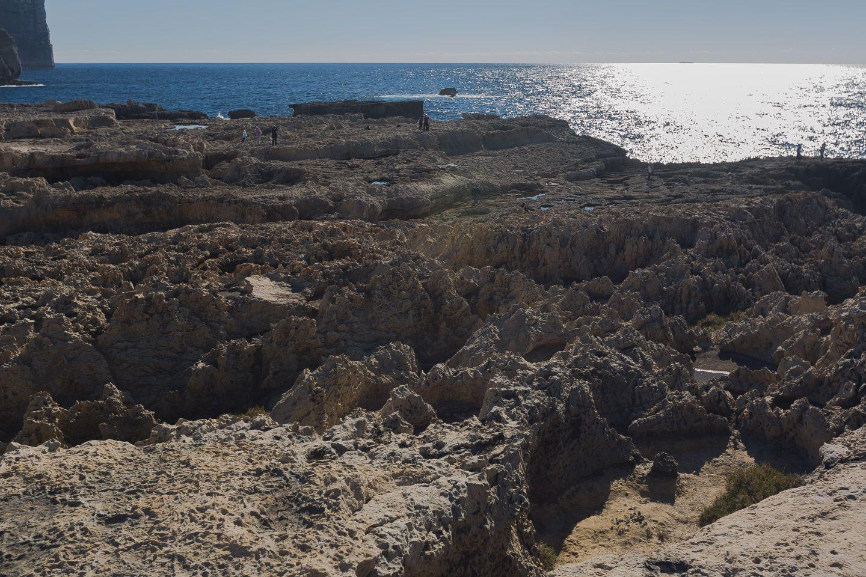 Breve distancia entre donde se encontraba Azure Window y la cueva de Medusa