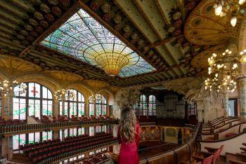 El Palau de la Música...en la sala de conciertos...