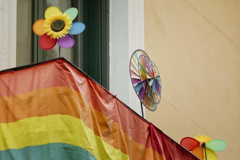 Seis colores que representan: vida, salud, luz del sol, naturaleza, serenidad y espíritu