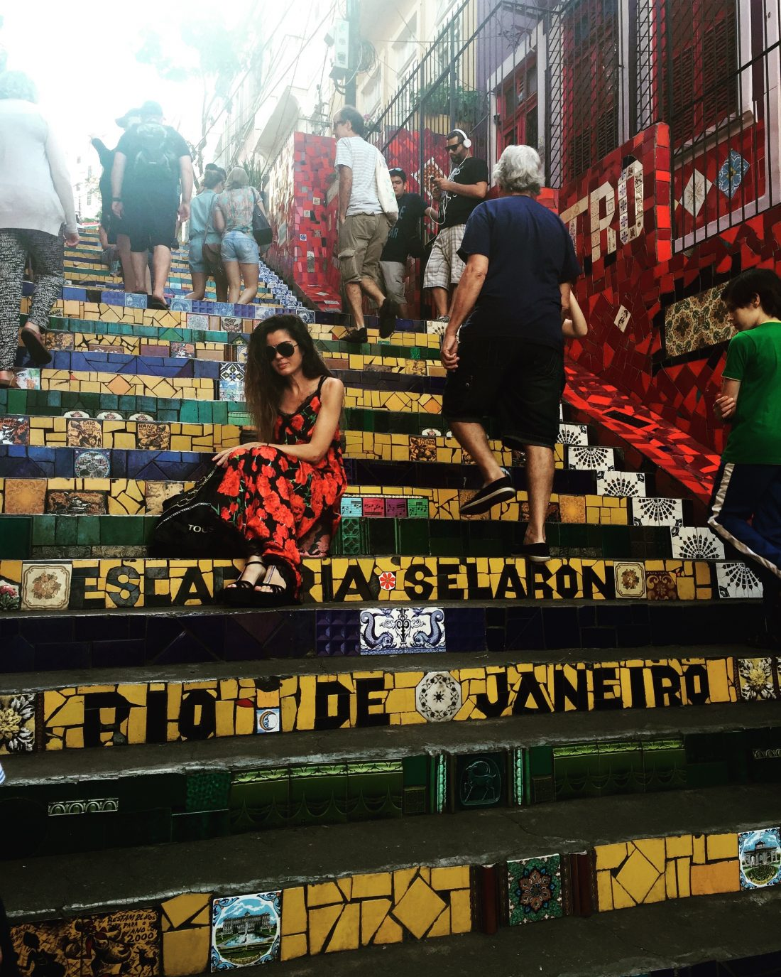 En el barrio de Santa Teresa se encuentra la escalera de Selaron