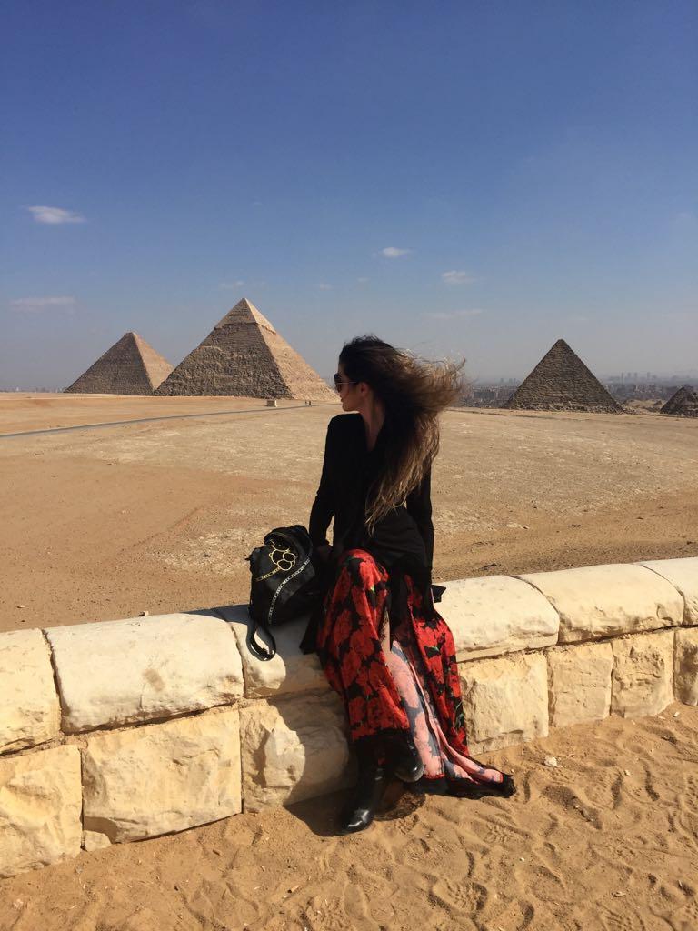 Egipto. La mochila ha visitado Egipto en tres ocasiones, incluso ha entrado al interior de la gran pirámide
