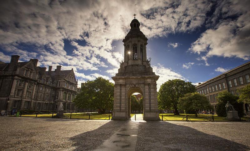 Pasear por Trinity College...