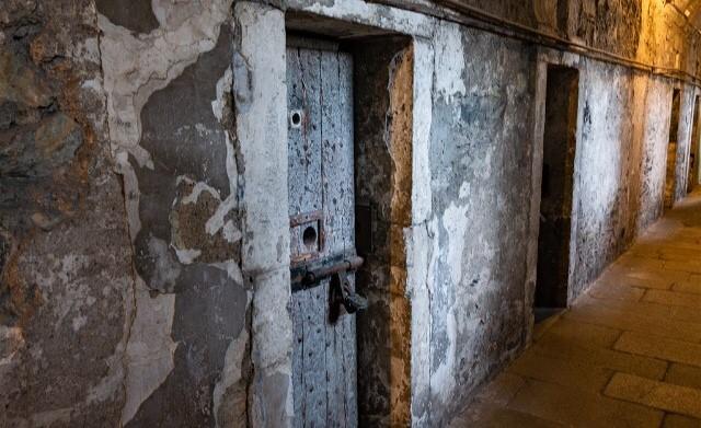 Las celdas de la parte más antigua de la cárcel...