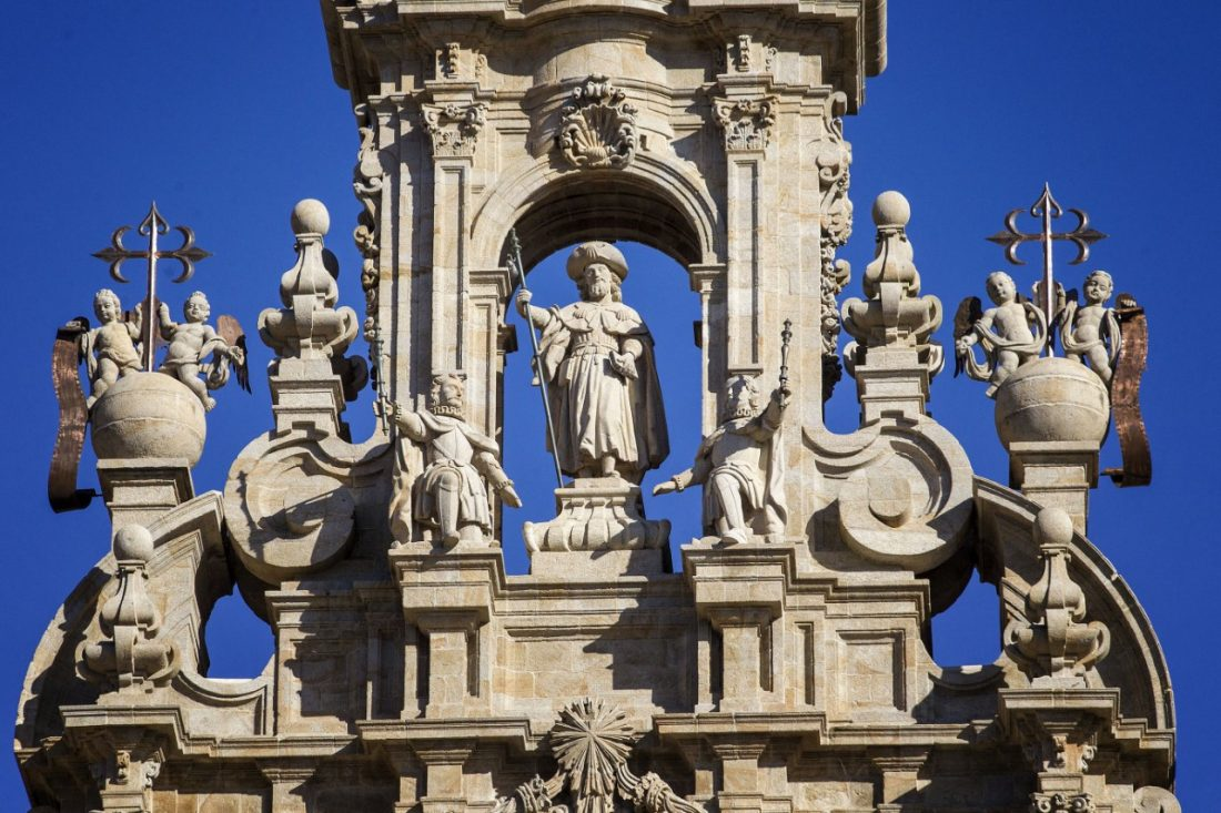 La catedral es el cuarto templo que se levanta sobre el sepulcro del Apóstol Santiago